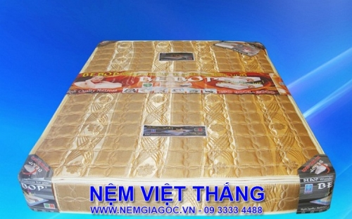 Nệm Lò Xo Bebop 3 Viền Bọc Mặt Sơ Dừa Mịn 1m6 x 2m x 20cm