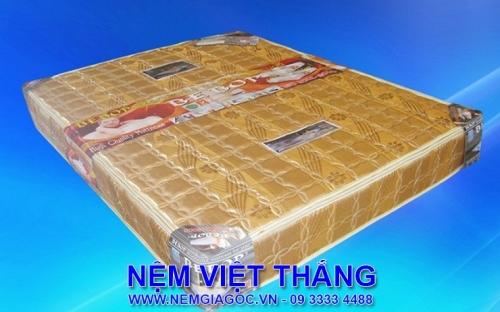 Nệm Lò Xo Bebop 3 Viền Bọc Mặt Bông Hàn Quốc 1m6 x 2m x 20cm