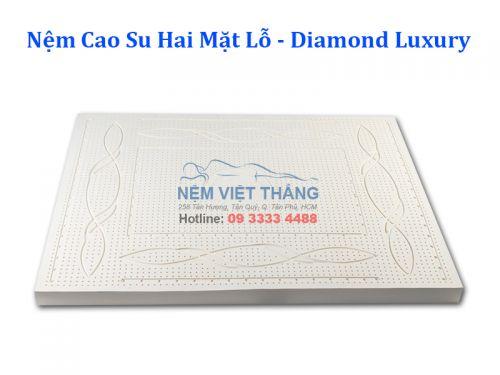 Nệm Biết Đi Cao Su Kim Cương Hai Mặt Lỗ Diamond Luxury