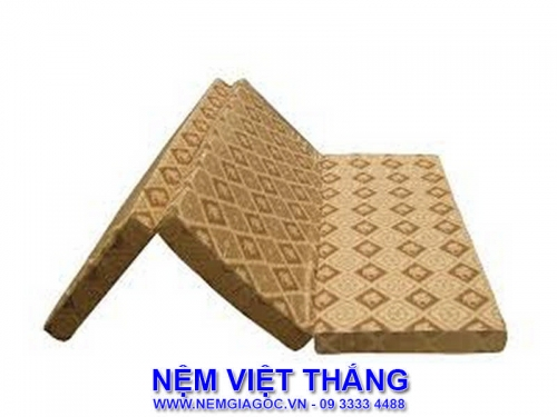 Nệm Gấp 3 Giá Rẻ Cao Su Đồng Phú 1m6 x 2m x 10cm