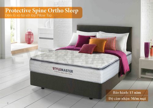 Đệm lò xo Protective Spine Ortho Sleep Everon