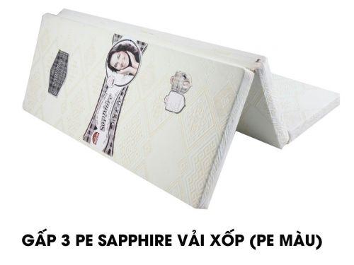 Nệm gấp 3 PE cao cấp Sapphire vải xốp gấm Hàn Việt Hải -10-50%