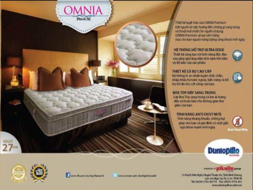 Nệm lò xo liên kết Dunlopillo OMNIA, chính hãng, giá siêu tốt