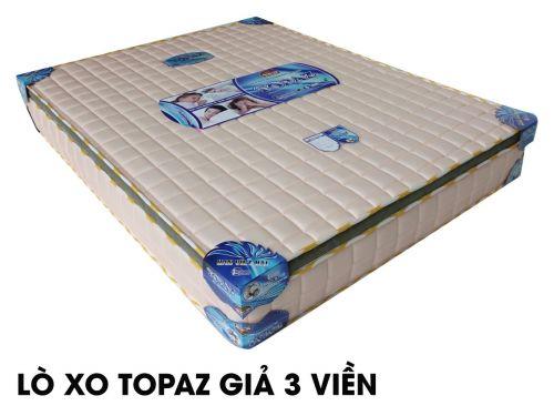 Nệm lò xo Topaz giả 3 viền vải gấm cao cấp, giá cạnh tranh